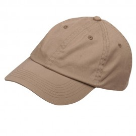 Youth Washed Chino Twill Cap-Khaki