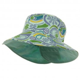 Ladies Floral Reversible Fashion Hat-Mint