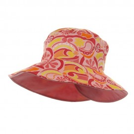 Ladies Floral Reversible Fashion Hat-Pink