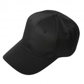 New High Profile Twill Cap-Black