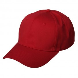 New High Profile Twill Caps-Red