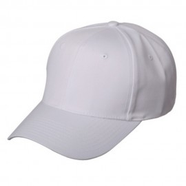 New High Profile Twill Cap-White