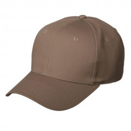 New High Profile Twill Caps-Khaki