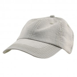 Low Profile Pine Stripe Cotton Washed Cap - Stone