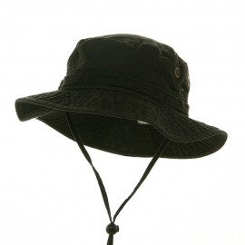 Washed Hunting Hat-Black