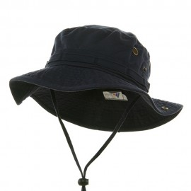 Washed Hunting Hat-Navy