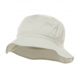 Pigment Dyed Bucket Hat-White