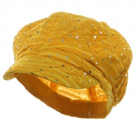 Glitter Newsboy Cap- Yellow