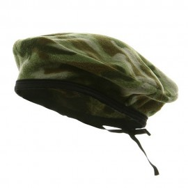 Camo Fleece Beret-Green