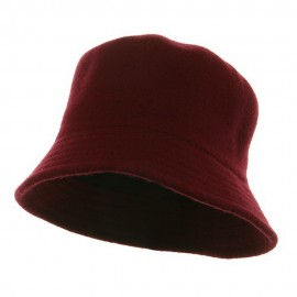 Wool Bucket Hat with Stitches