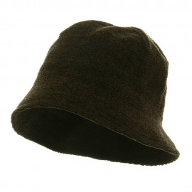 Plain Chenille Bucket Hats-Olive