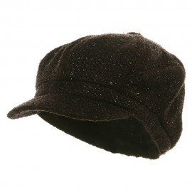 Metallic Tweed Newsboy Cap