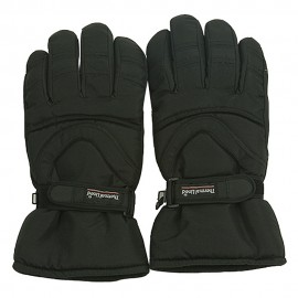 Water Repellent Polar Ski Glove-Black