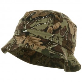Youth Pigment Dyed Bucket Hat-Leaf Camo