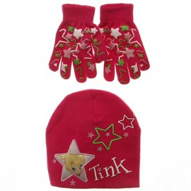 Tinkerbell Knit Hat and Glove Set