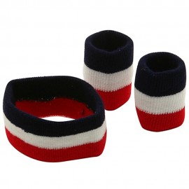 Rasta Band-Red White Navy Set