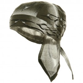 Flame Series Head Wraps-Tank Flame Silver