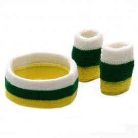 Tri Color Head and Wrist Band Set