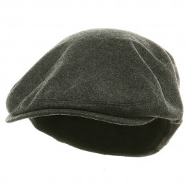 Big Size Elastic Wool Ivy Cap - Charcoal