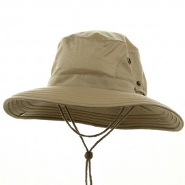 Big Size Floatable Nylon Oxford Hat - Khaki