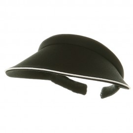 Piping Clip On Visor-Black
