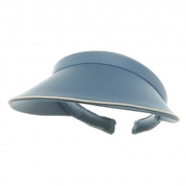Piping Clip On Visor-Lt Blue