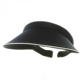 Piping Clip On Visor-Navy