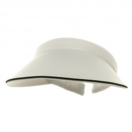 Piping Clip On Visor-White