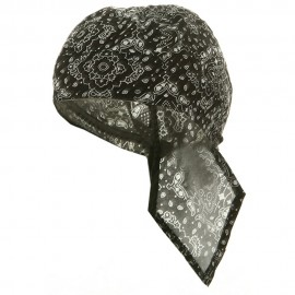 Print Series Headwrap-Black Paisley