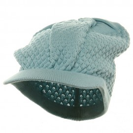 Rasta Plain Beanies Visor (02)-Light Blue