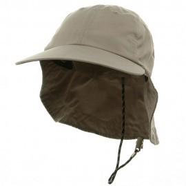 Microfiber Cap with Flap-Khaki