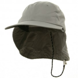 Microfiber Cap with Flap-Grey