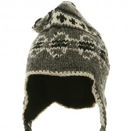 Ring Jacquard Knitting Beanie-Grey