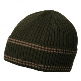 New Cable Cuff Beanie-Olive Khaki