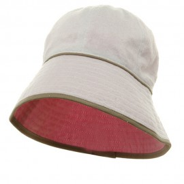 UV Ladies Reversible Cotton Terry Hat - White Pink