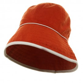 UV Ladies Reversible Cotton Terry Hat - Orange Orange