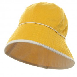 UV Ladies Reversible Cotton Terry Hat - Yellow White