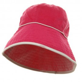 UV Ladies Reversible Cotton Terry Hat - Hot Light Pink