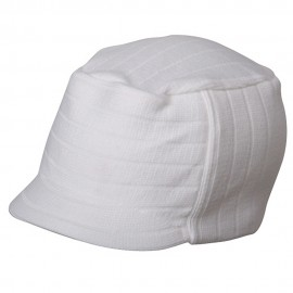 Military Beanie Visor-White
