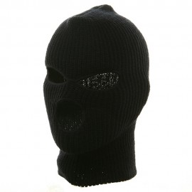 Ski Mask with Three Holes - Navy