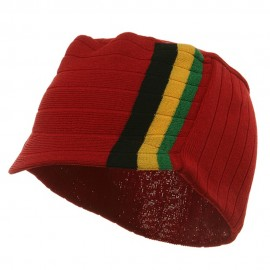 Summer Military Beanie Visor-Red BYG