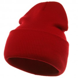 Long Beanie-Red