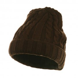 Twister Ski Beanie-Brown