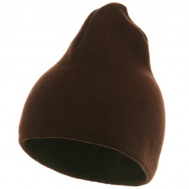 Short Beanie - Brown