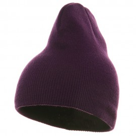 Short Beanie - Purple