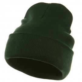 Superior Cotton Knit Long Beanie-Dk Green