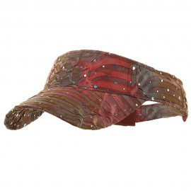 Multi Color Animal Print Visor - Rose