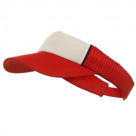 Mesh Visor-Red- White