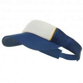 Mesh Visor-Royal-White