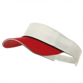 Pro Style Two Tone Visors-red navy